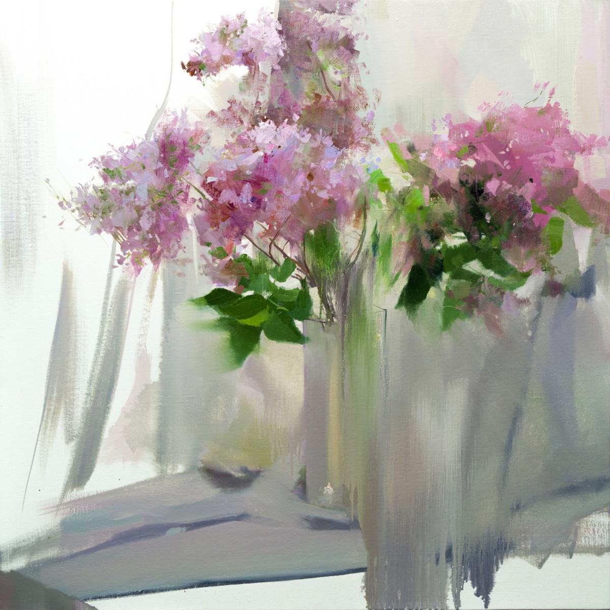 картина натюрморт с цветами в вазе сирень