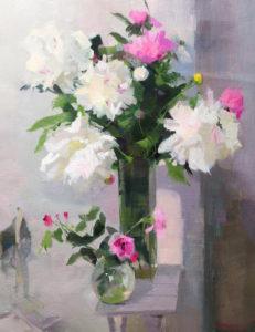 картина маслом натюрморт живопис з квітами олійна техніка