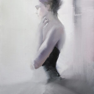 ballet dancer portrait on canvas