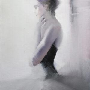 ballet dancer portrait on canvas