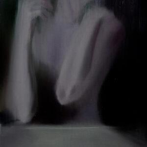 magic original painting of female hands, ballet dancer