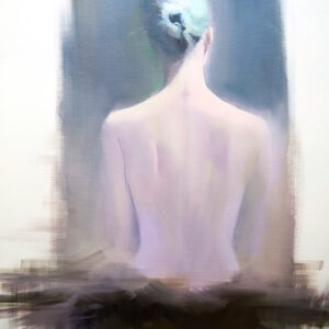 female back painting on canvas by Yuri Pysar